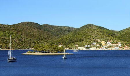 ionio: landscape of Vathy in Ithaca island Greece