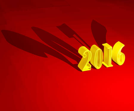 renders: 3D 2016 Christmas yellow symbol
