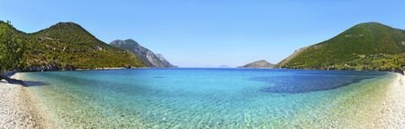 ionio: panoramic photo of a beach in Ithaca Greece
