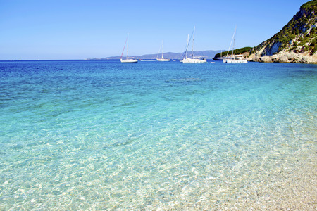 ionio: turquoise sea in Ithaca island Greece