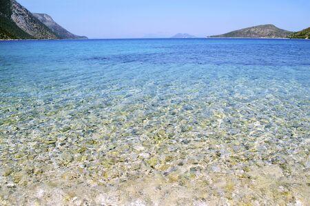 ionio: Pisaetos beach in Ithaca island Greece