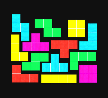 tetris with black background Stock Photo