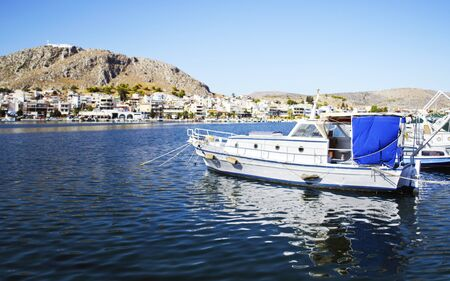 ajax: boats in Salamis port Greece