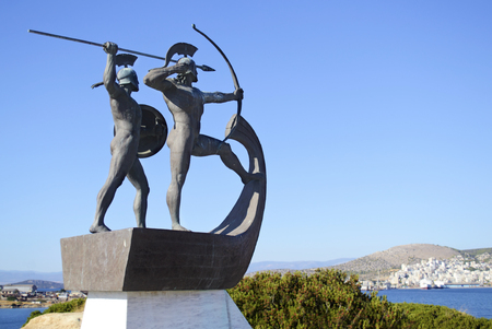 monument of the battle of Salamis Greece