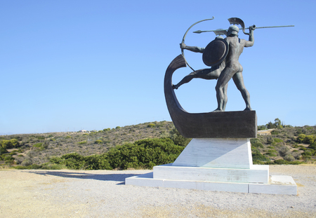 sightseeng: monument of the battle of Salamis Greece