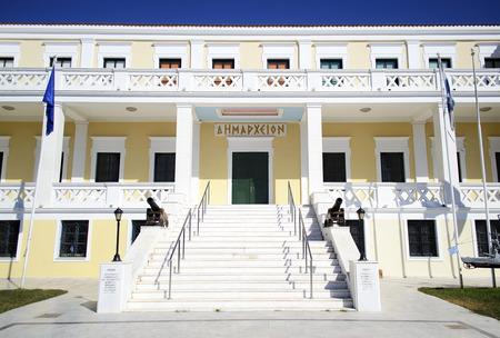sightseeng: town hall of Salamis island Greece