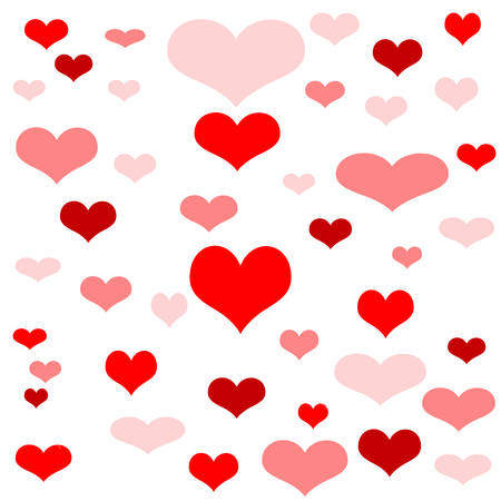 red hearts: red hearts background Stock Photo