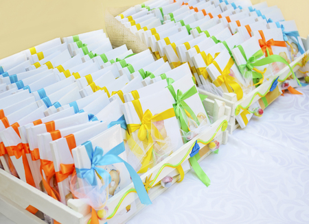 godfather: christening book favors Stock Photo