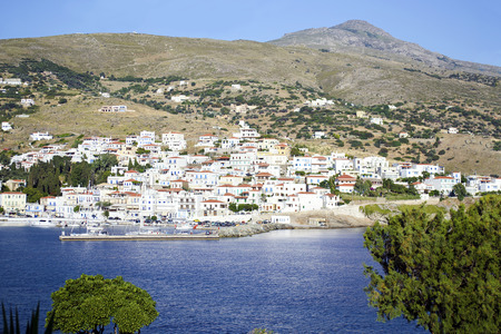 andros: landscape of Batsi in Andros island Greece