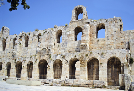 sightseeng: the theater of Herodes Atticus in Athens Greece