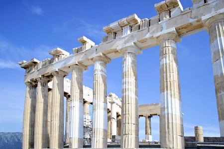 sightseeng: Acropolis Parthenon columns in Athens Greece