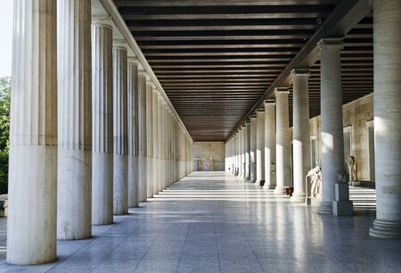 sightseeng: Stoa of Attalos in Athens Greece Editorial