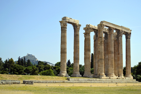 olympian: Temple of Olympian Zeus in Athens Greece