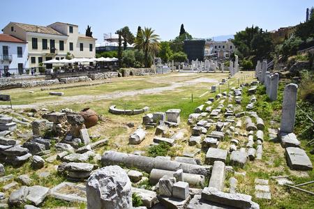sightseeng: ancient roman market in Athens Greece Stock Photo