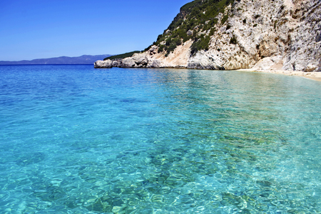 ionian: turquoise sea of the Ionian islands Greece