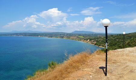 peloponnesus: landscape of messinian gulf Greece