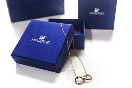 swarovski: ATHENS GREECE, JANUARY 27 2016: swarovski infinity necklace