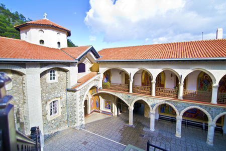 famous places: Kykkos monastery in Cyprus religious place famous places tourism sightseeing Stock Photo