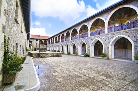 famous places: Kykkos monastery in Cyprus religious place famous places tourism sightseeing Editorial