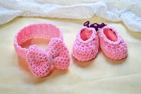 baby shower gift baby girl headband and shoes