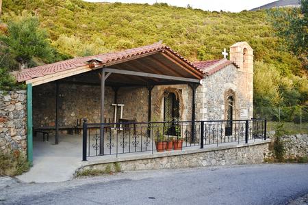messinia: MESSINIA TAYGETOS MOUNTAIN GREECE, JANUARY 27 2016: traditional church in Taygetos mountain Messinia Greece