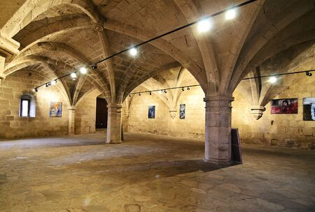 occupied: inside of Bellapais Abbey in Northern occupied Cyprus - Bellapais monastery