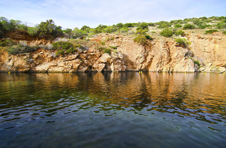 geophysical: Vouliagmeni lake Attica Greece, known for its constant temperature at 24 degrees Celsius all the year.