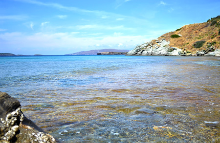 andros: beach in Andros island Cyclades Greece - greek Aegean sea