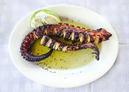 seafood - octopus at a greek tavern