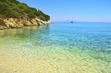 ionio: beach at Ithaca Ionian islands Greece Stock Photo
