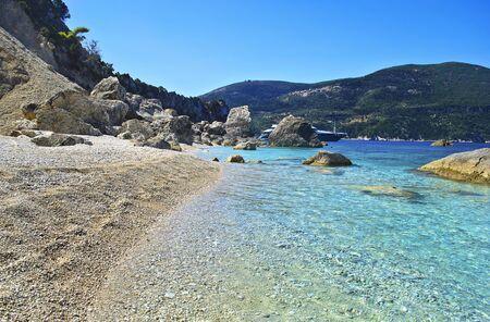 ionio: beach in Ithaca island Greece - greek summer in Ionian islands