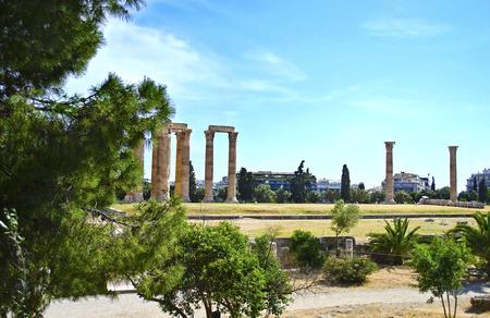 olympian: the Temple of Olympian Zeus in Athens Greece - greek landmarks