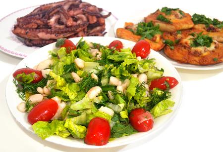 taverna: traditional greek food - Clean Monday food - greek lenten cuisine