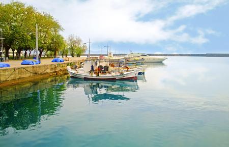 messinia: jetty at Navarinou road Kalamata Peloponnese Greece