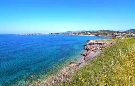 famous places: landscape of Sounion in Attica Greece - greek famous places for vacation