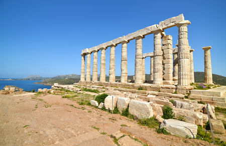 olympian: temple of Poseidon at Cape Sounion Attica Greece