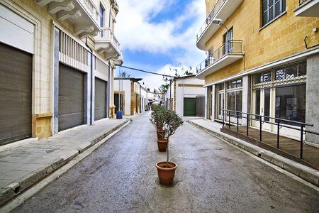 green line: Ledras street, buffer zone between Nicosia Cyprus and occupied Cyprus