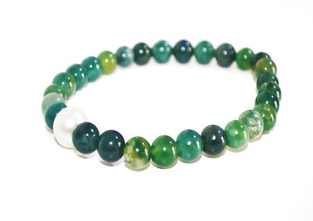 semi precious: green agate gemstone bracelet - expensive semi precious stones jewelry