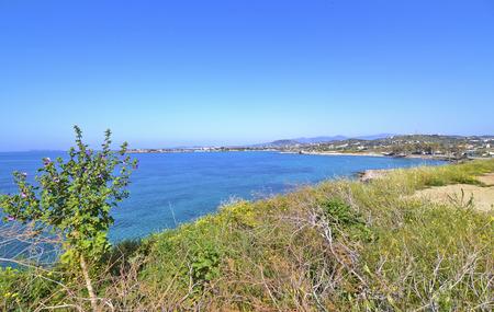 famous places: landscape of Sounion Greece - greek famous places for vacation