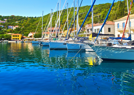 ionio: Kioni port at Ithaca Ionian islands Greece