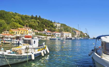 touristic: Kioni port at Ithaca Ionian islands Greece
