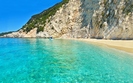 inaccessible: Ithaca beach Ionian islands Greece