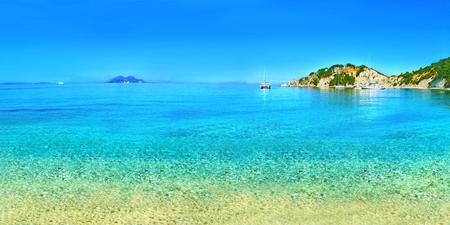 ionio: panoramic photo of Ithaca beach Ionian islands Greece
