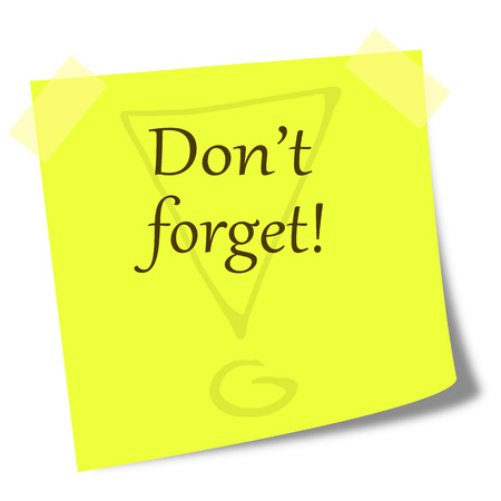 it business: dont forget note on post it - business comunication concept