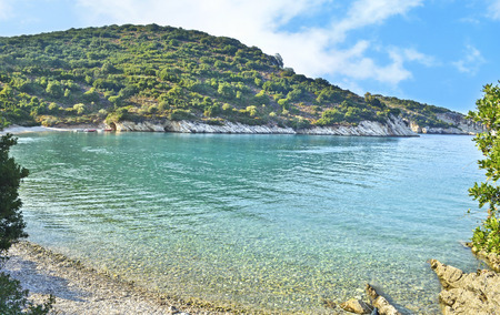 ionio: landscape of Filiatro beach at Ithaca Ionian islands Greece