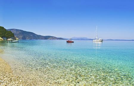 ionio: Gidaki beach landscape at Ithaca Ionian islands Greece