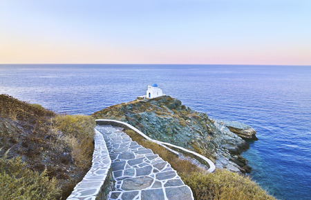 the church of the Seven Martyrs Sifnos island Cyclades Greece