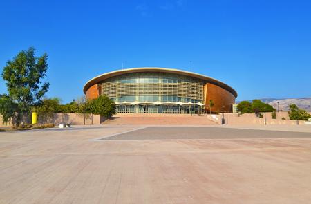 ATHENS GREECE, 25 SEPTEMBER 2016: The Faliro Sports Pavilion Arena - part of the Faliro Coastal Zone Olympic Complex known as tae kwon do stadium Athens Greece. Editorial use.