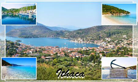 ionio: photo collage of Ithaca Ionian islands Greece