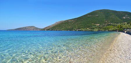 ionio: turquoise sea at Ithaca beach Ionian islands Greece Stock Photo